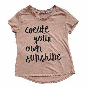 Create Your Own Sunshine Blush Pink Tee